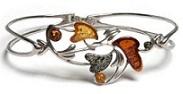 bracelet feuille lierre ambre