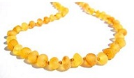 collier pour bébé ambre