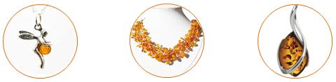 pendentifs et colliers en ambre